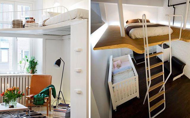 Camas en alto para espacios pequeños | decoración casa | Pinterest ...