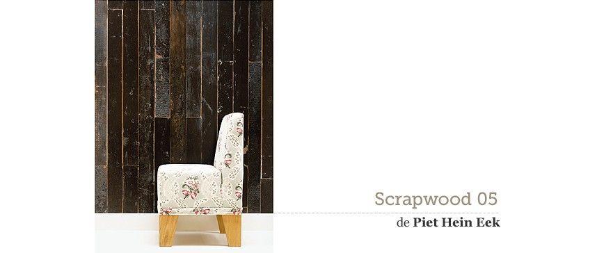 Papel de pared pintado ecológico Scrapwood 05 Wallpaper Non Woven de la colección de Piet Hein Eek - NLXL. Wood on the walls. #PietHeinEek #papeldepared #wallpaper #nlxl #scrapwood #papelpared