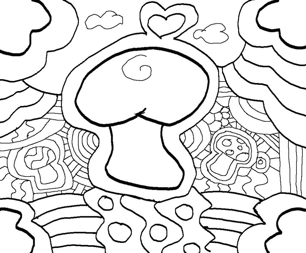 Trippy Coloring Pages Trippy Mushroom Coloring Pages Pictures