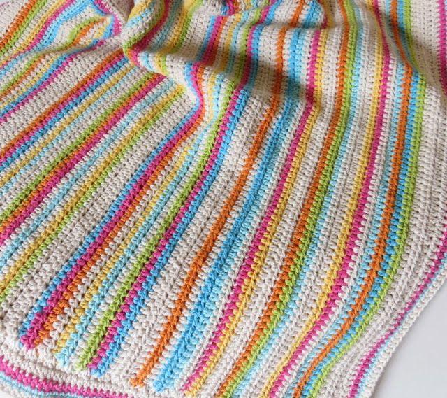 Crochet baby blanket - Cotton yarn