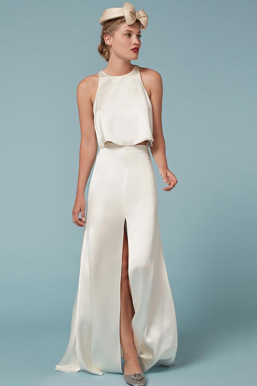 Dianna agron wedding dress   Wedding Dresses That Donut Feel Overly Bridal  Wedding Party