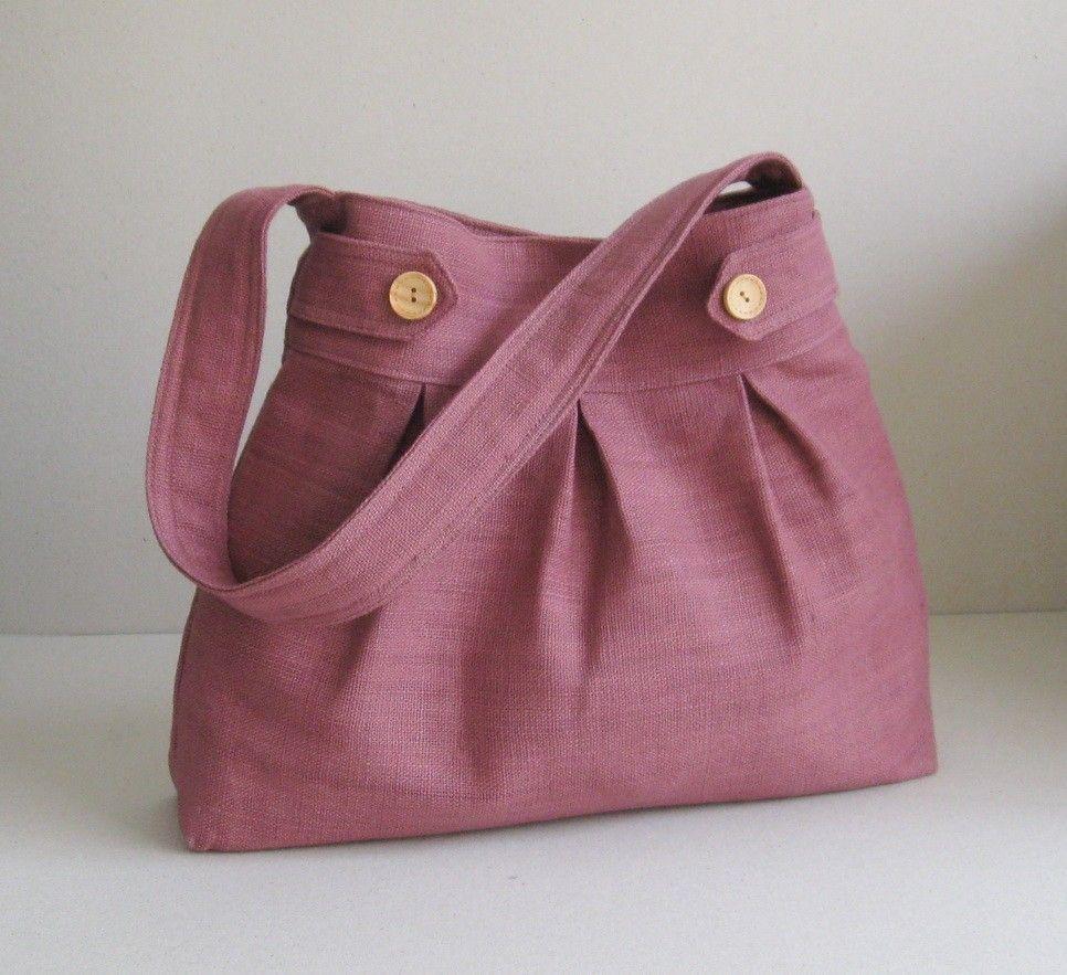Sale - Mulberry Hemp/Cotton Bag - Messenger / Diaper bag / Tote / Handbag / Shoulder bag / Women - ARROWS. via Etsy.