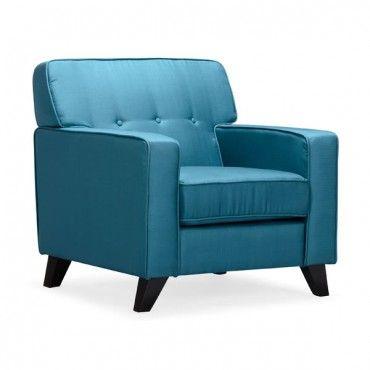 Modern Blue Fabric Club Chair Montreal Chair Club Chairs Furniture
