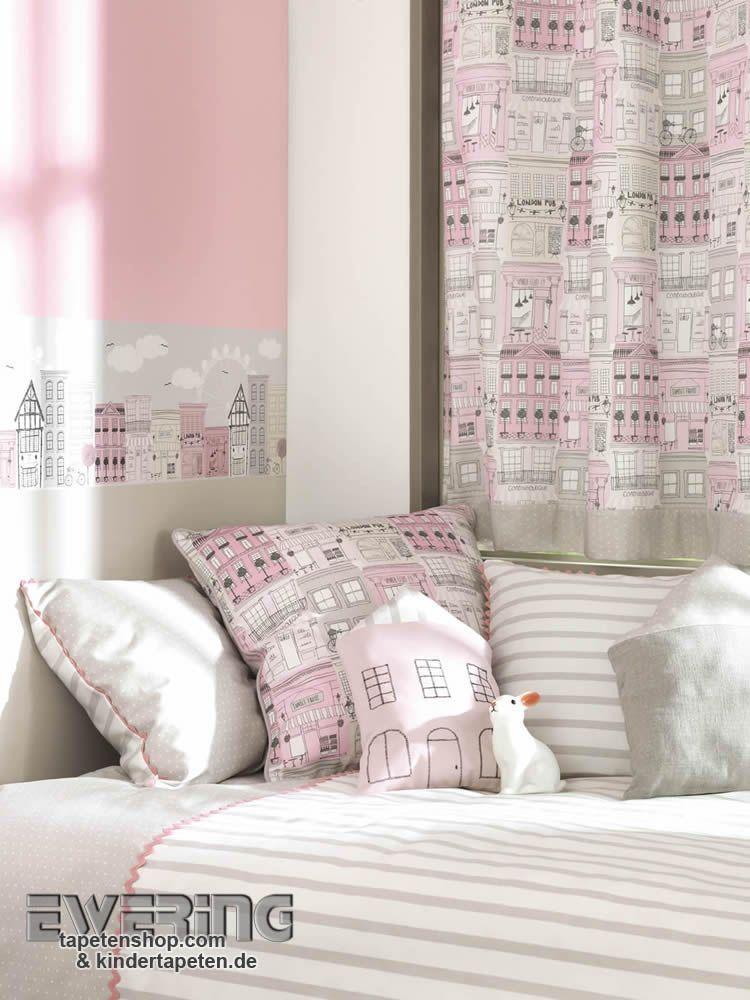 alice paul 21 stadt motive in rosa und grau verzieren das m dchenzimmer als sto alice. Black Bedroom Furniture Sets. Home Design Ideas