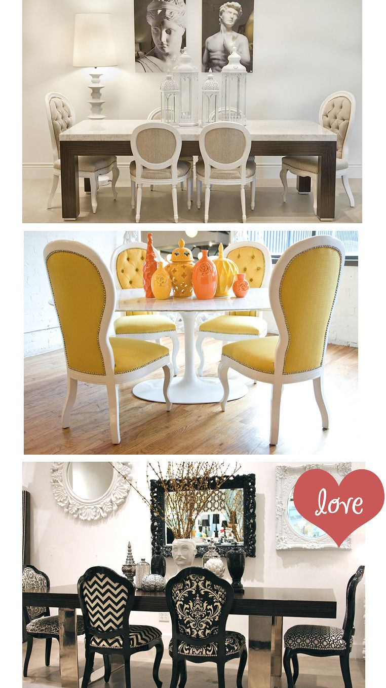 Captivating Love The Mismatched Queen Anne Chairs In The Blac And White