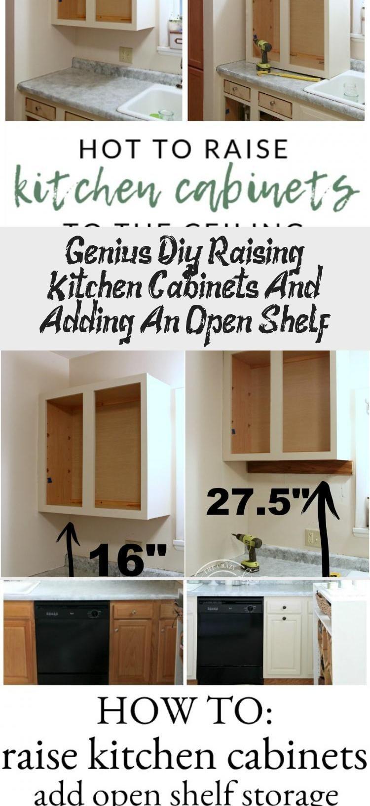 Genius Diy Raising Kitchen Cabinets And Adding An Open Shelf Kitchen Storage Solutions Diy Kitchen Decor Diy Kitchen Cabinets