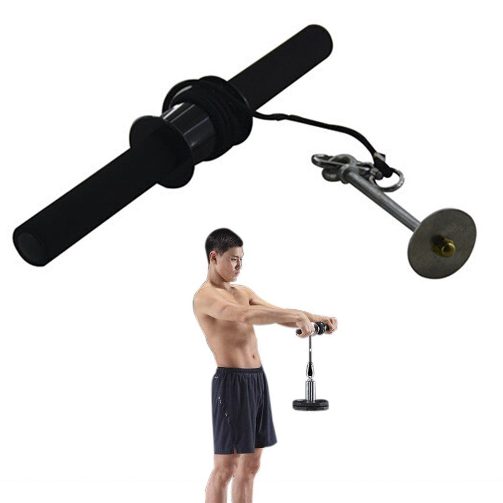 Darhoo Wrist And Forearm Strength Training Fitness Equipment Arm Muscle Get In Shape Hand Exerciser Steel Pipe Foam Nylon Rope Black Check Out
