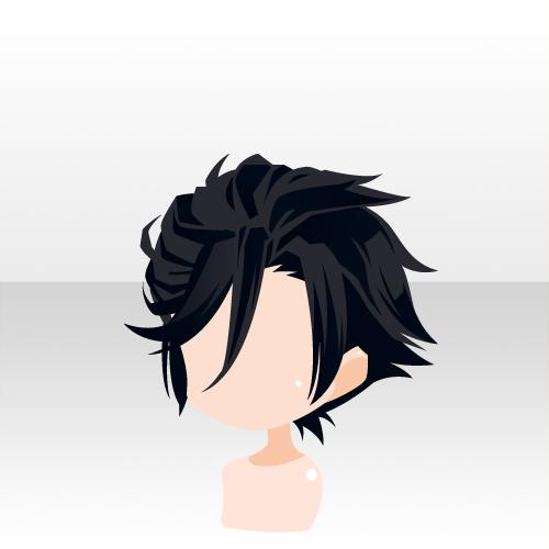アニメの毛, 髪型のスケッチ