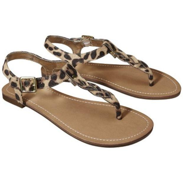 595acad6409f Target   Women s Merona® Erin Braided Upper Sandal - Leopard   Image Zoom