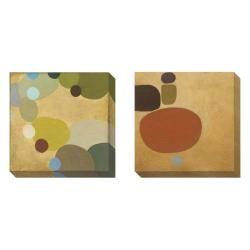 Sean Jacobs 'Commune' 2-piece Gallery Wrapped Canvas Art Set