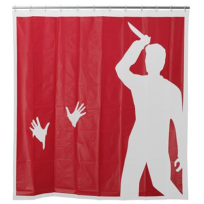 Psycho Shower Curtain Funny shower curtains and Fun shower curtains - halloween bathroom sets