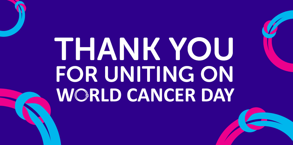 thank you for uniting on world cancer day website design