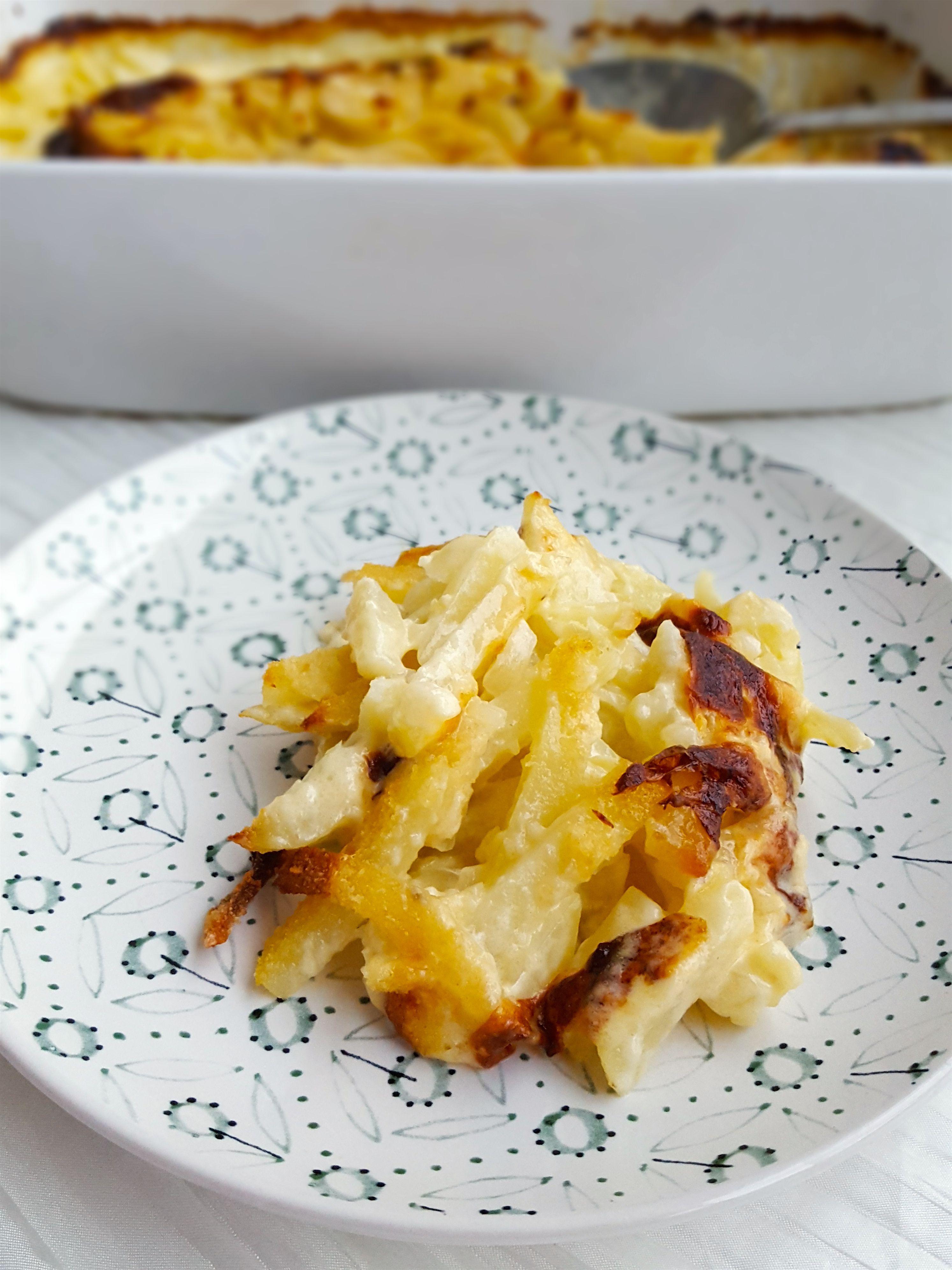 potatisgratäng mjölig potatis