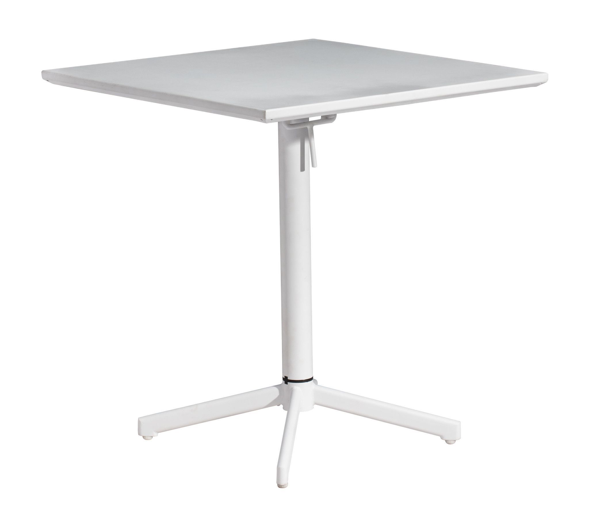High Quality Big Wave Square Folding Table White