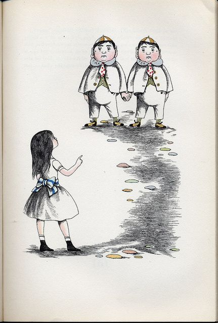 Alice In Wonderland And Through The Looking Glass Illustrated by Dagmar Berková. Prague 1961.