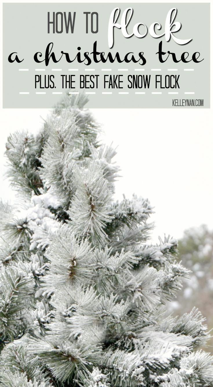 How to Flock a Christmas Tree with Fake Snow- Easy DIY Tutorial with the Best Snow Flock