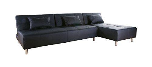 Gold Sparrow Atlanta Convertible Sectional Sofa Bed, Blac... https ...