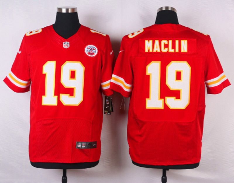 Kansas City Chiefs  19 Jeremy Maclin Red Nike NFL Elite Jersey  a44c91d8b