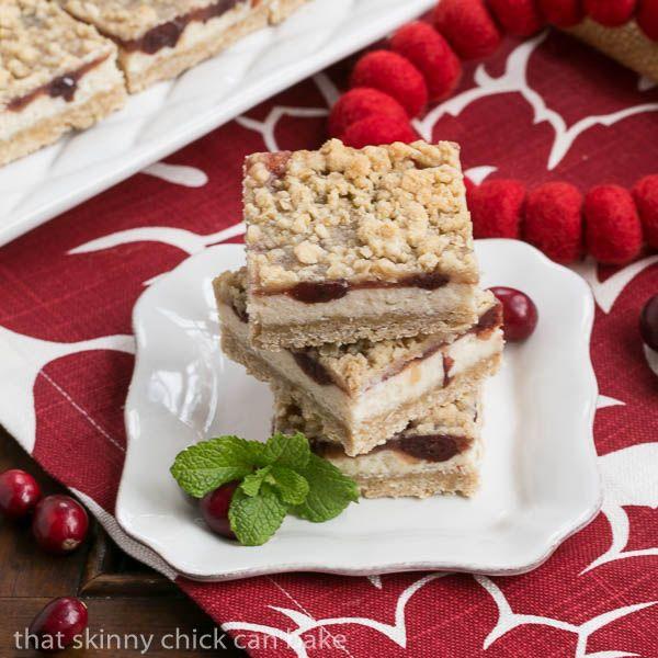 Cranberry Cream Cheese Bars  cranberry bar recipe #SundaySupper