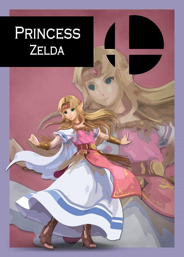 Super Smash Bros. Ultimate Border Characters Displate Posters