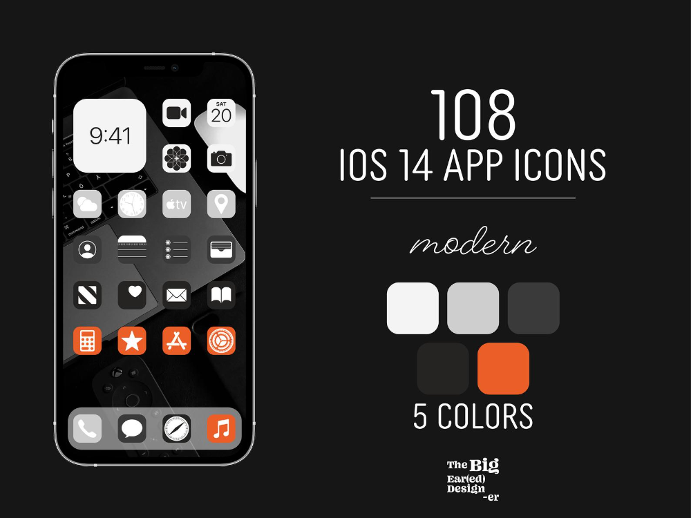Aesthetic Modern Tech Sports Ios 14 App Icons Pack 108 Etsy App Icon Icon Pack Sticker Maker