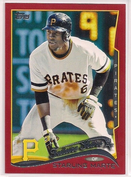 2014 Topps Future Stars Starling Marte Red Target Exclusive