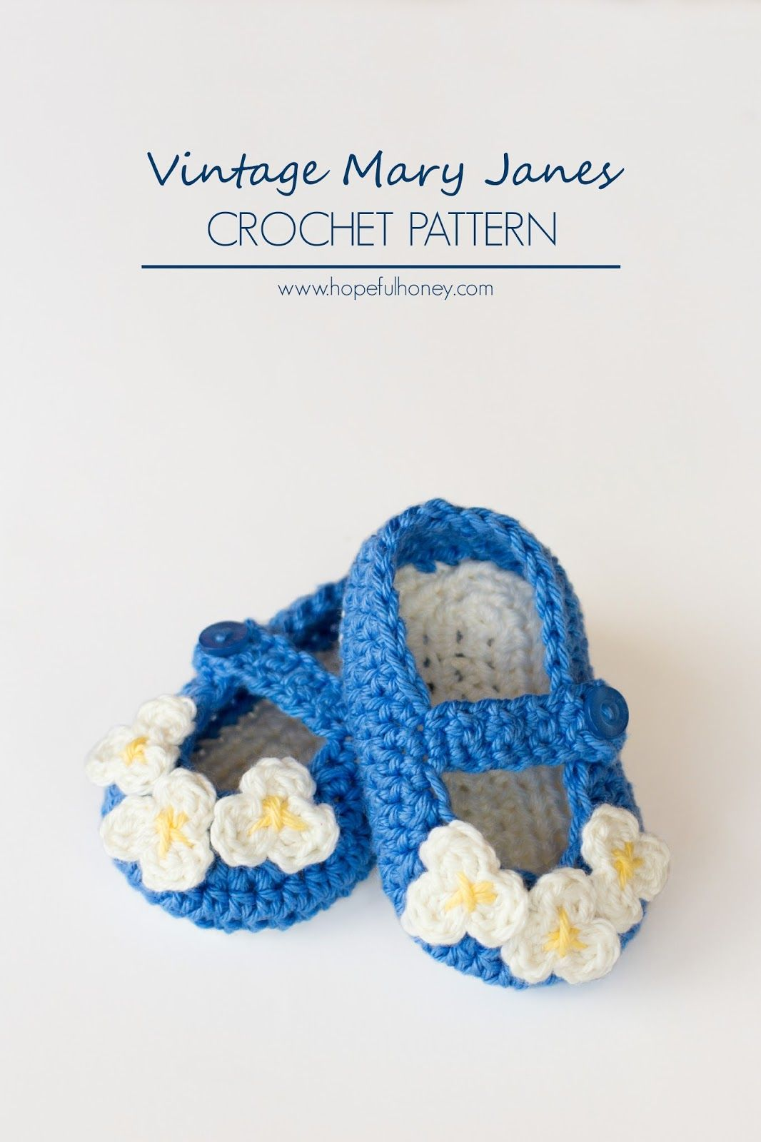 Vintage Mary Jane Baby Booties Crochet Pattern | Zapatos, Tejido y Bebe