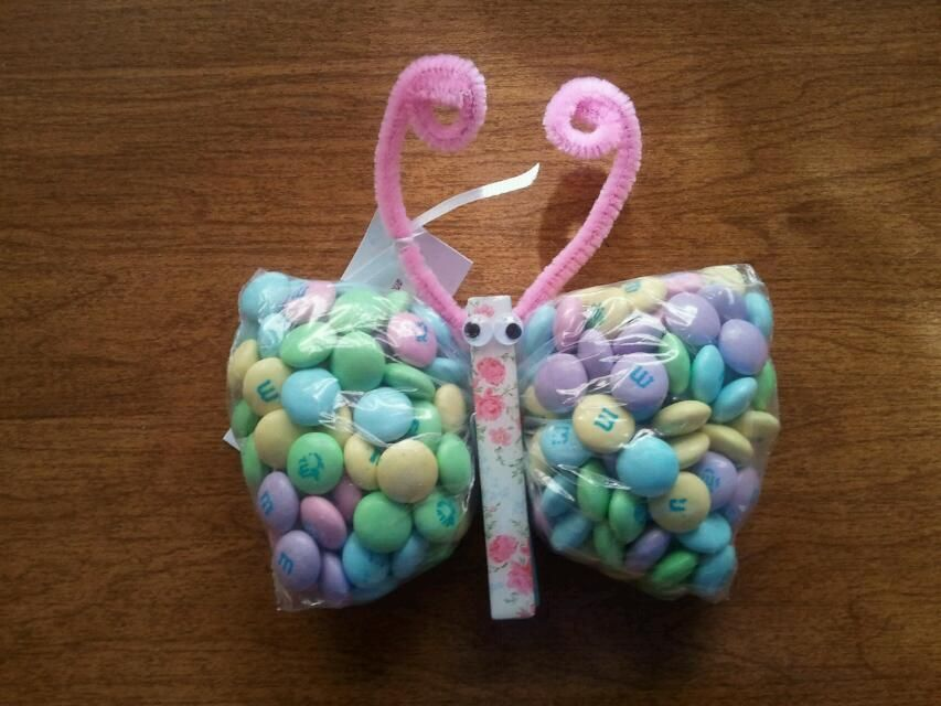 Butterfly Baby Shower Favor. Easy To Make. Fill A Sandwich Bag Half Full  With