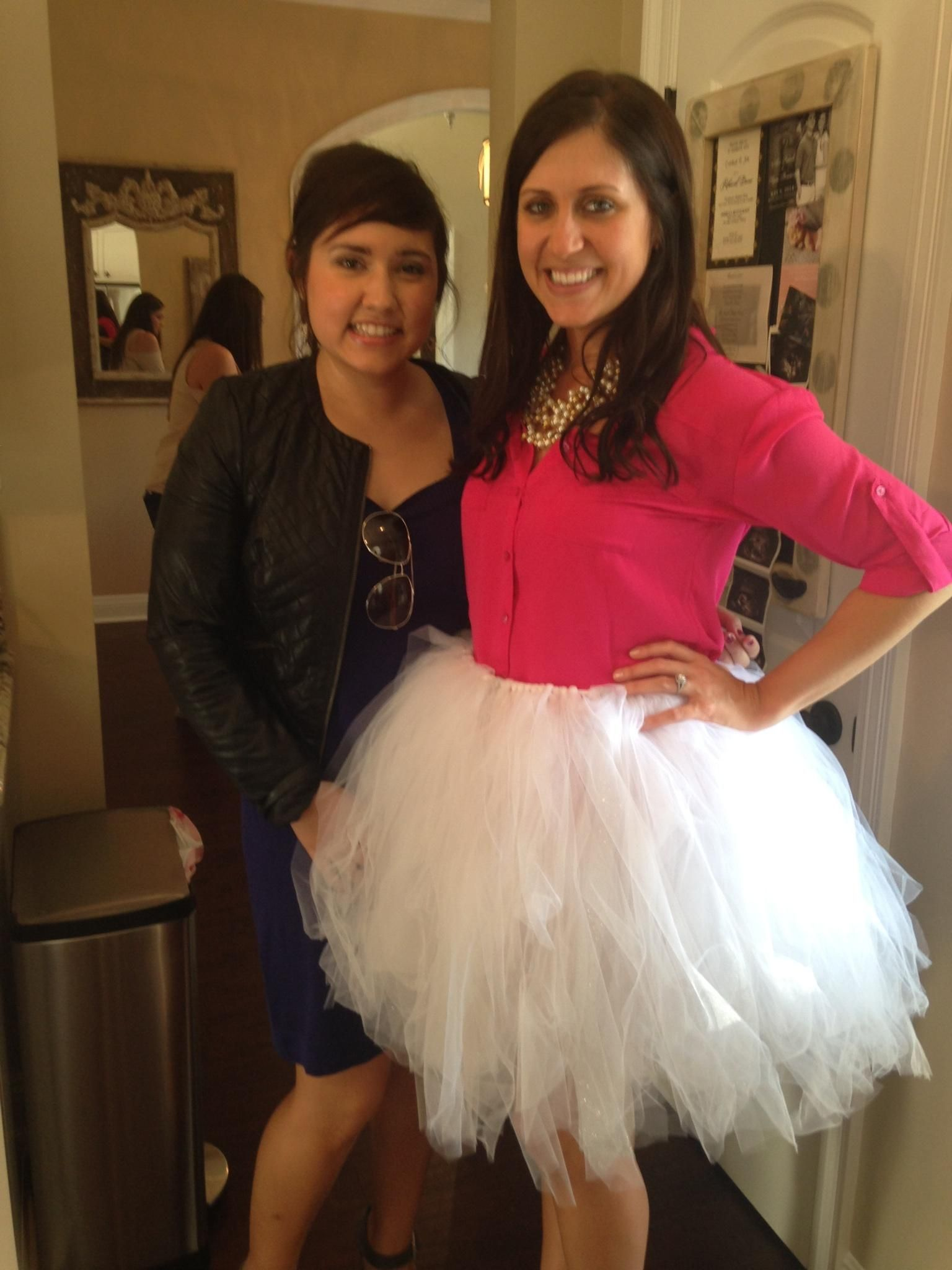 i made this no sew tutu myself for my bridal shower and changed into at