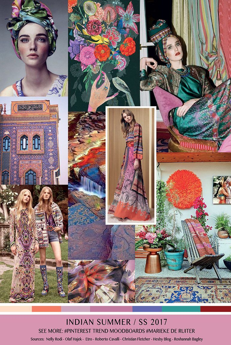 Trendsenses Moodboard Indian Summer Ss 2017 Spring Fashion 2017 Pinterest