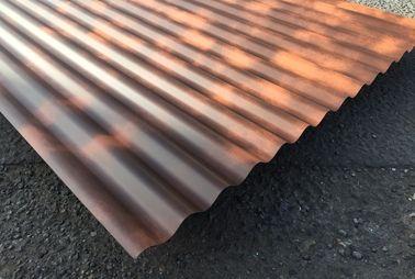 Rust Effect Pvdf Paint Finish Corrugated Sheets Steel Cladding Metal Cladding Corrugated Sheets