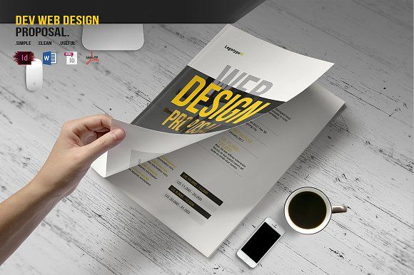 Dev Web Design Proposal Proposals Stationery Templates And Template