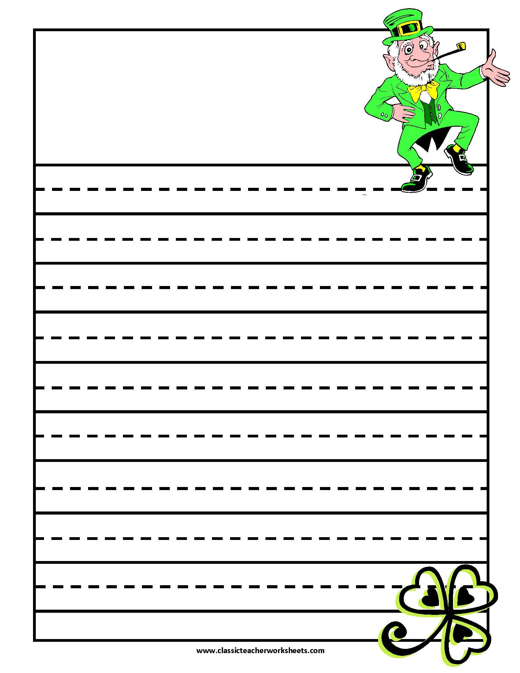 Writing Paper Leprechaun Check Out Our Website