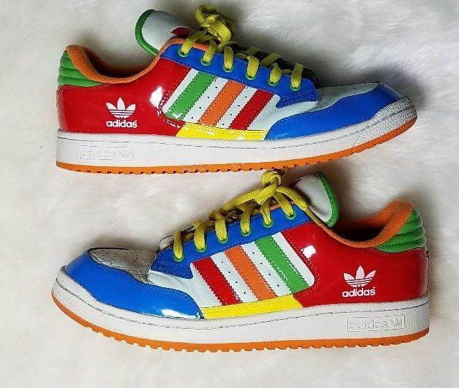 9d1ad3f3057d15 Adidas Multi Color Low Top Shoes Men Sz 11 Primary Color Block 042720 Retro  Styl
