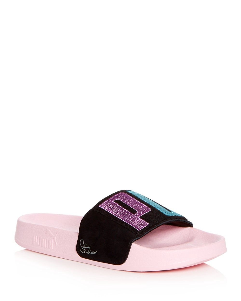 PUMA PUMA x Sophia Webster Women s Leadcat Embroidered Suede Pool Slide  Sandals.  puma  shoes   3ca81bf41