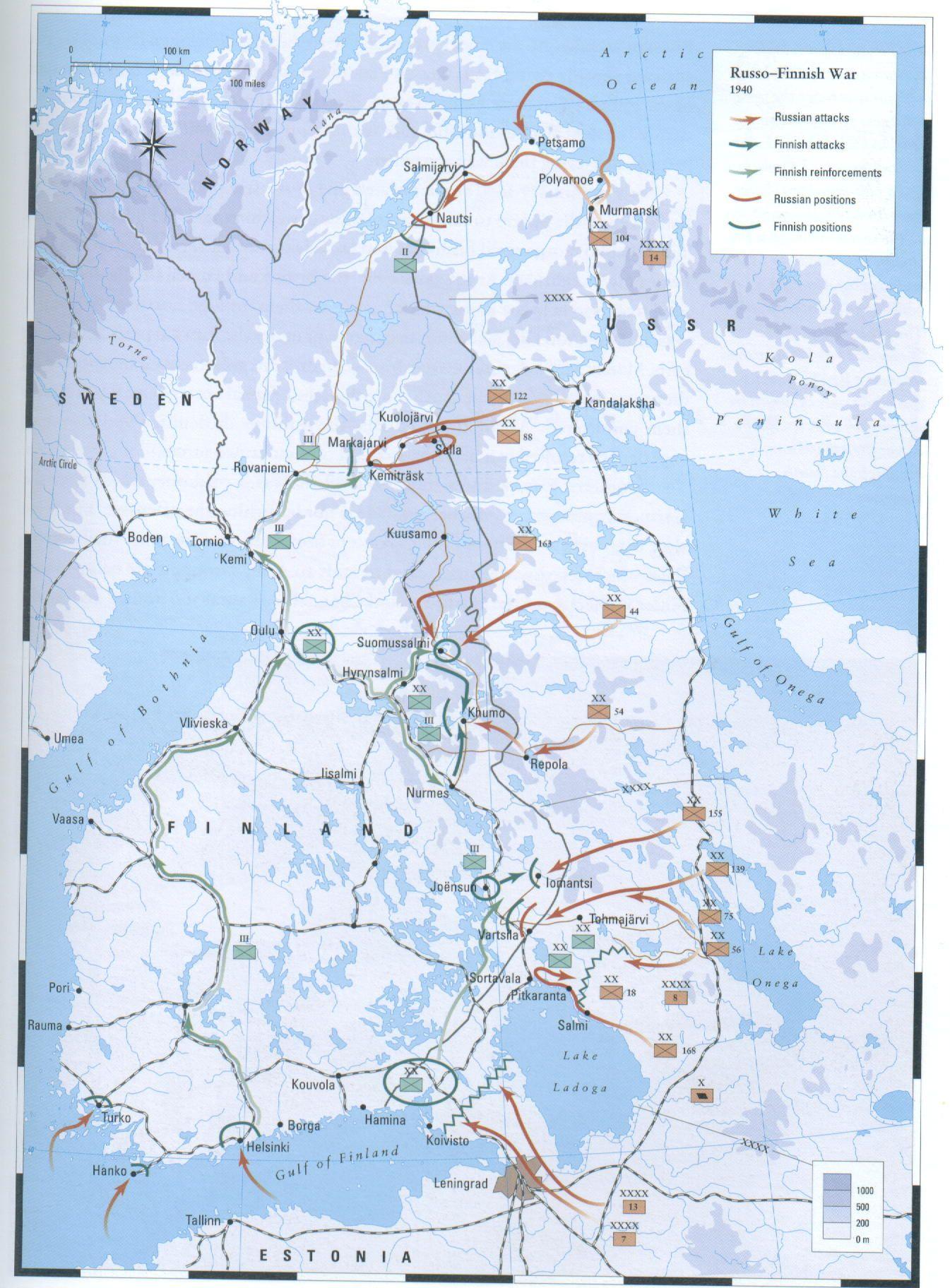 E1 The Winter War Talvisota Wwii Maps Historical Maps Modern