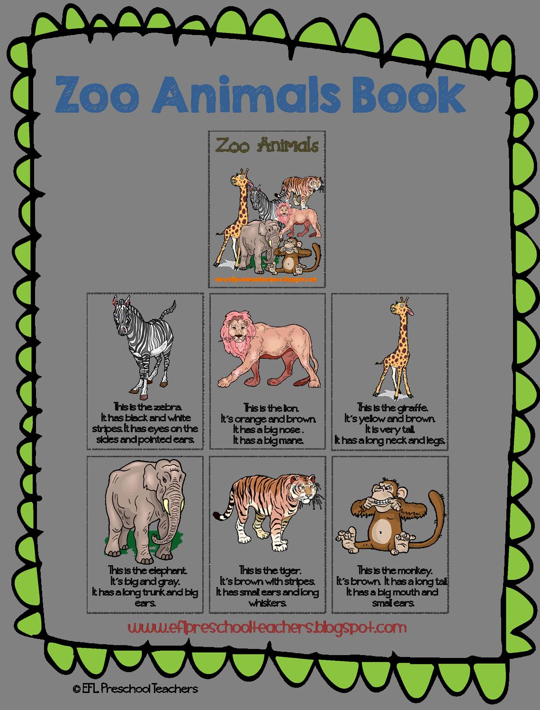 Esl Zoo Animals Unit Printable Book