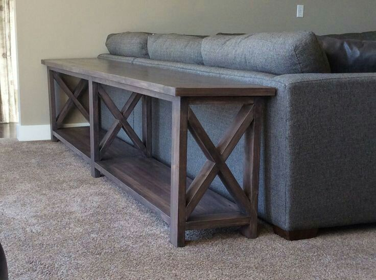 For The Back Of The Sectional Make And Stain Really Dark Diy Sofa Table Diy Furniture Diy Sofa