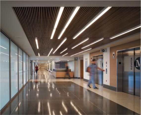 Linear hospital interior architecture pinterest for Interior lighting design standards
