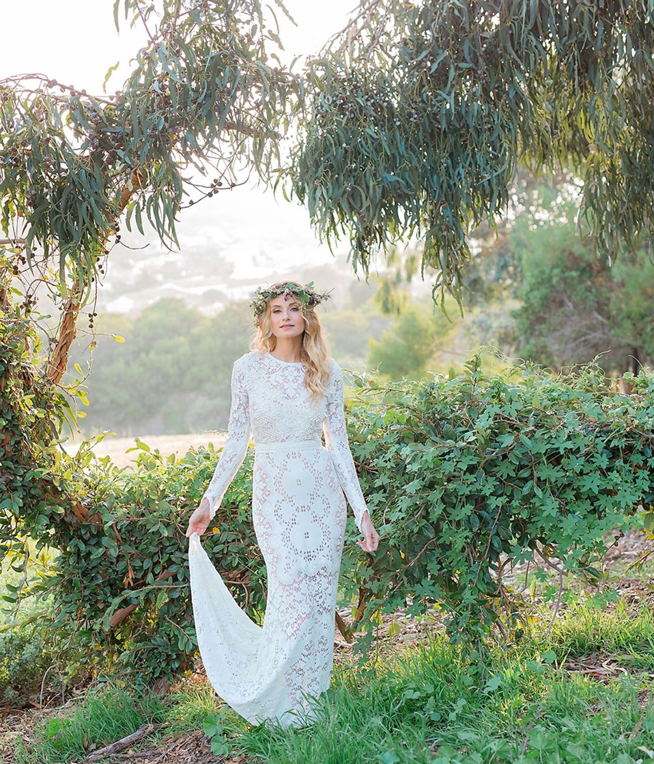 Nature wedding dress  OneOfAKind Wedding Dresses from Saldana Vintage  Lace wedding