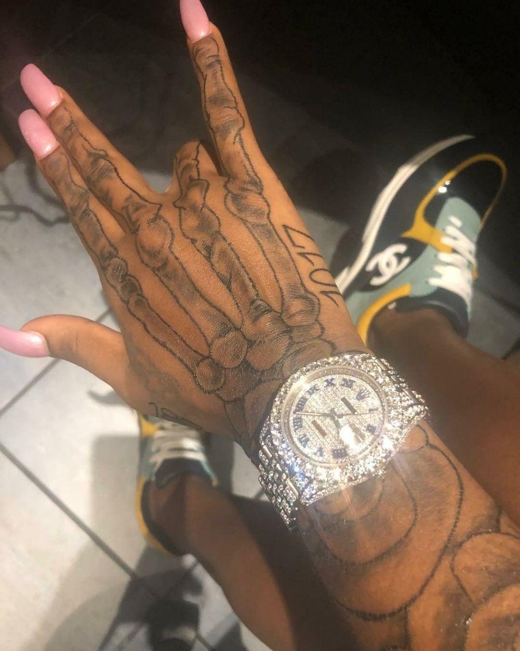 Round Tattoos On Hand In 2020 Hand Tattoos Skull Hand Tattoo Hand Tattoos For Women