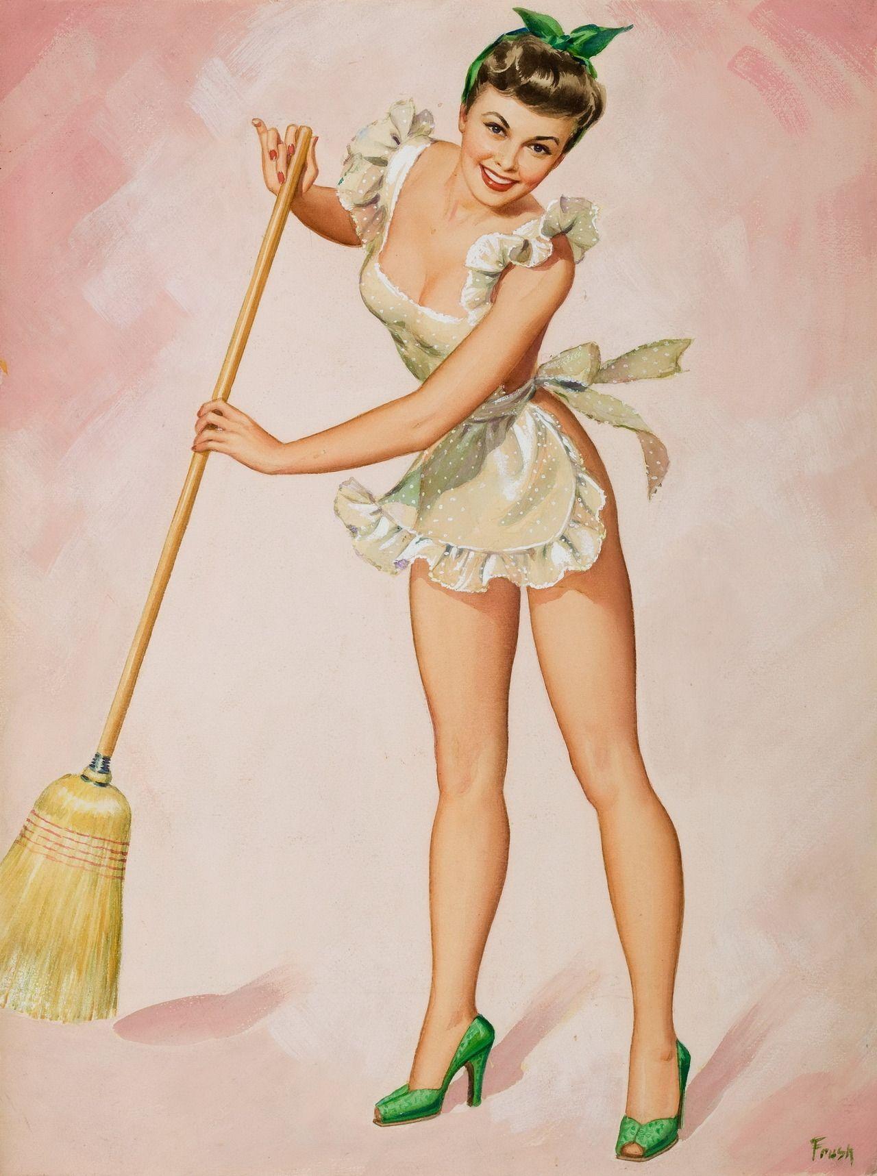 Уборка квартиры открытка