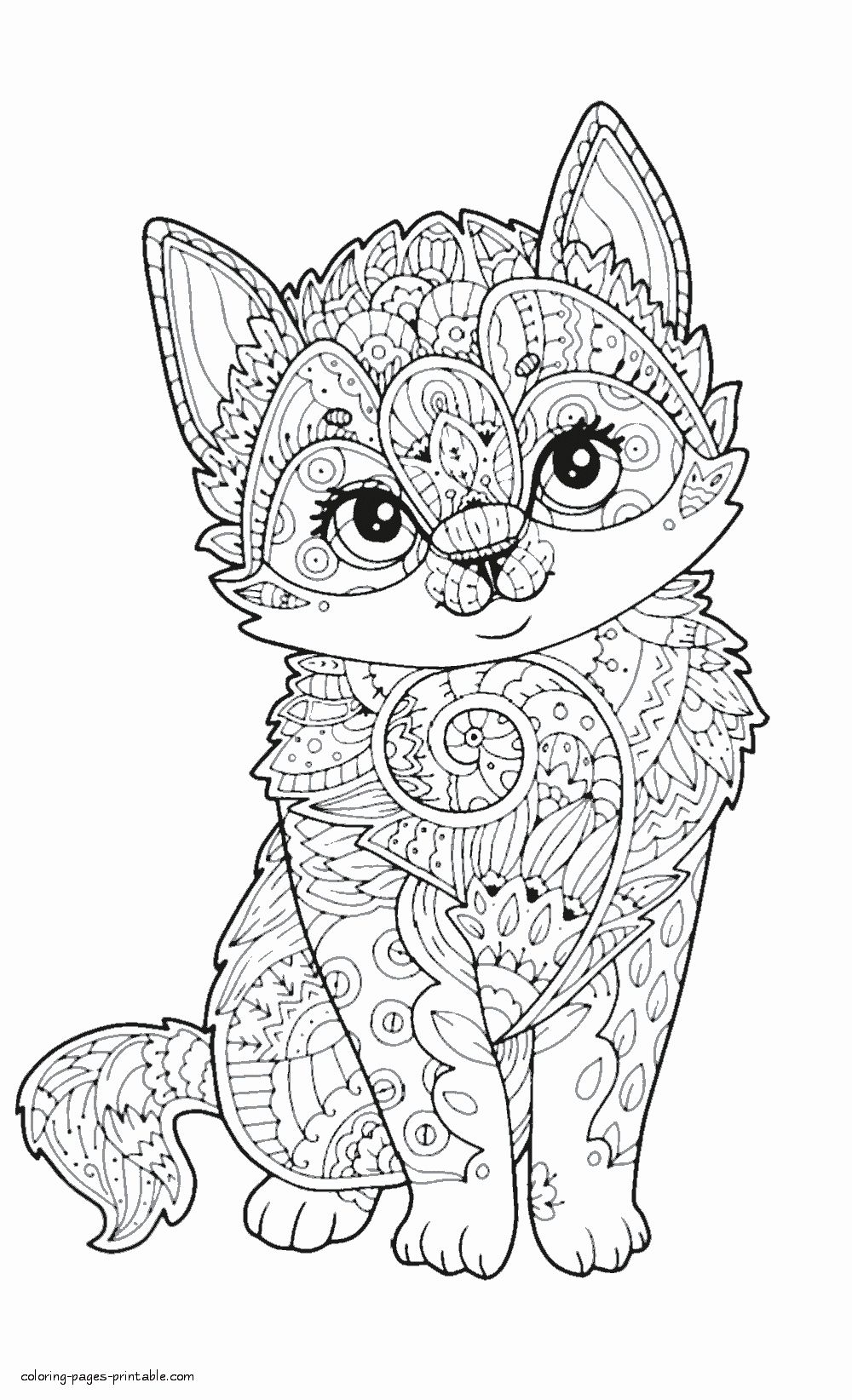 Cute Animals Coloring Pages In 2020 Adult Coloring Animals Zoo Animal Coloring Pages Cute Kawaii Animals
