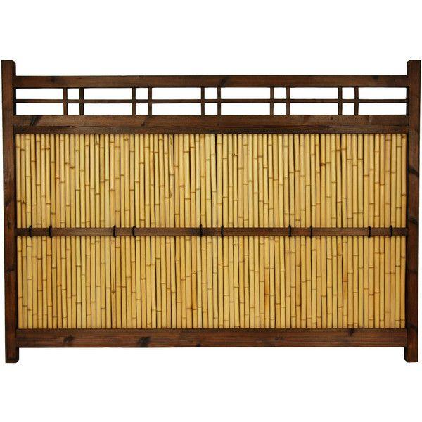 Japanese Bamboo Kumo Fence (395 CAD) · Outdoor Garden DecorOutdoor ...