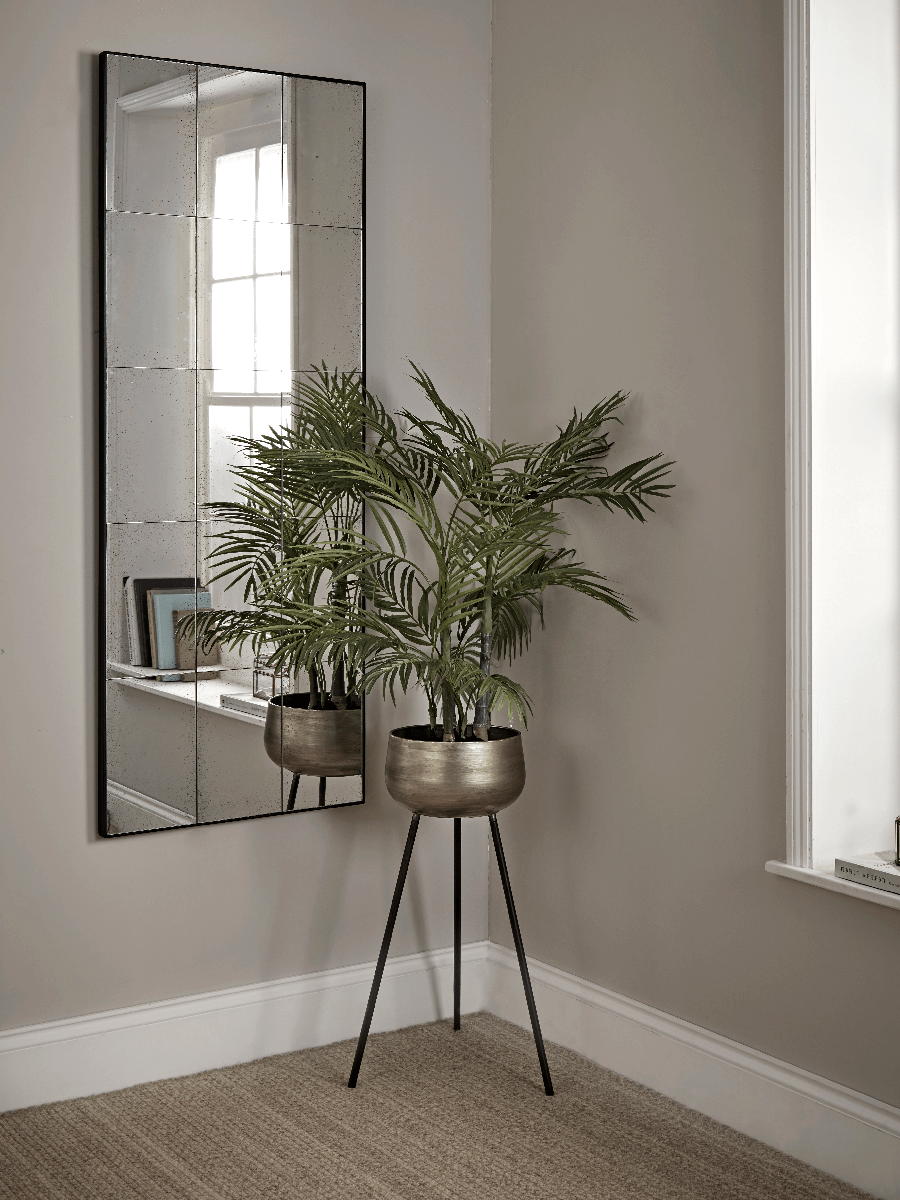 Aged Glass Full Length Panel Mirror Mirror Wall Living