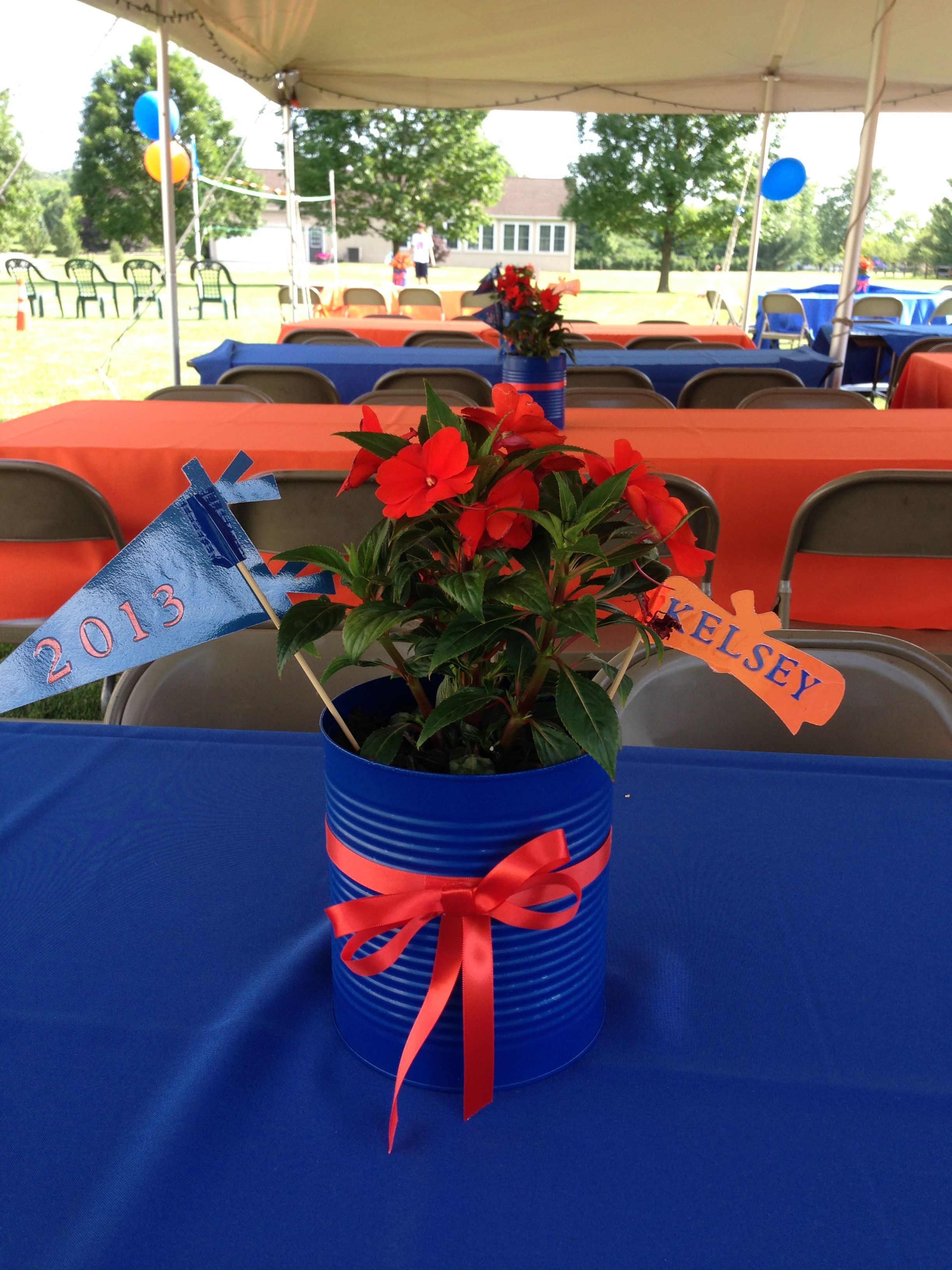 easy centerpiece idea for an outdoor graduation party it u0027s just a