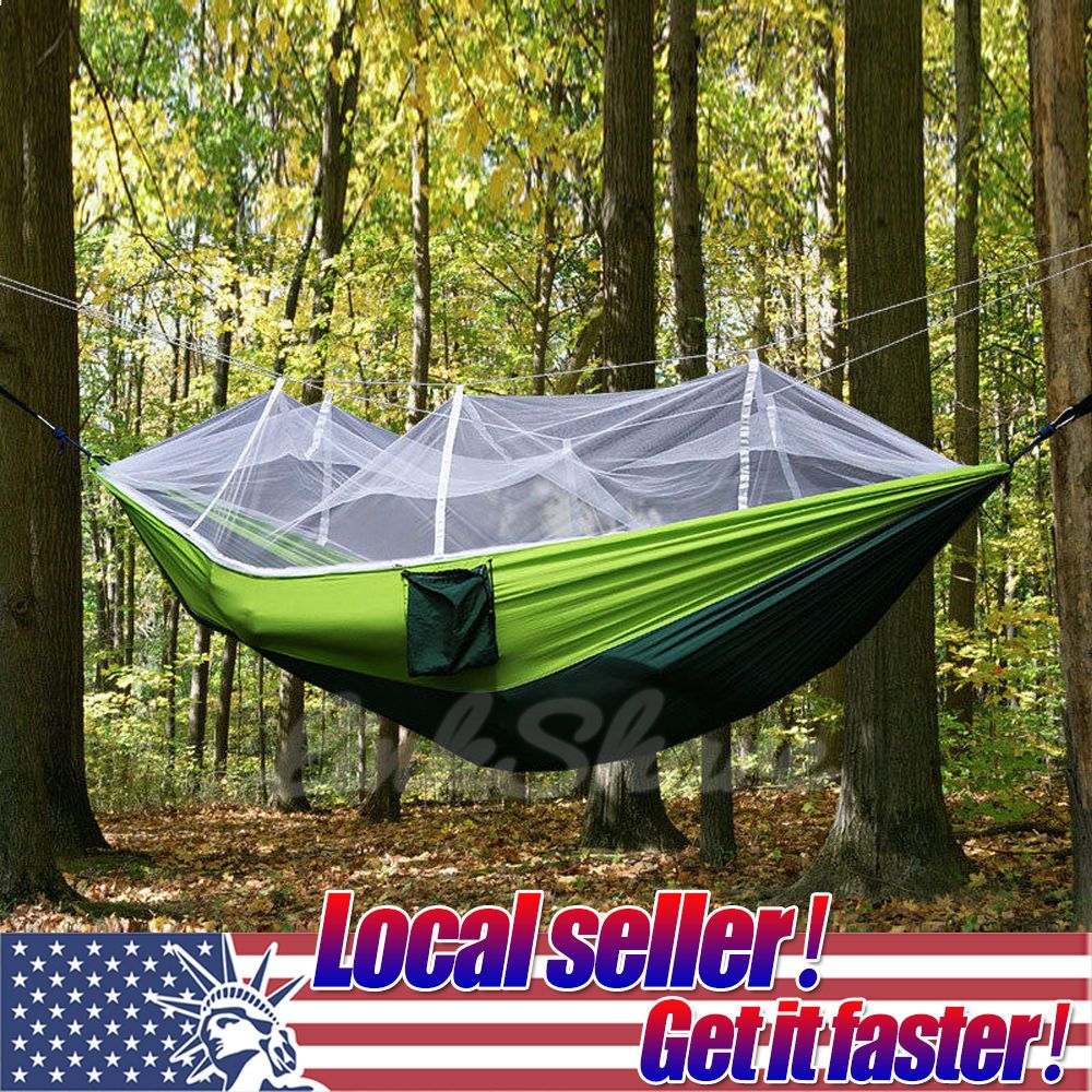 Outdoor Camping Hammock Double Person Travel Tent Hanging Bed With Mosquito Net