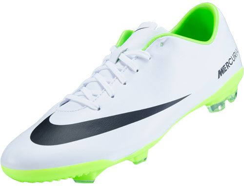 nike youth mercurial vapor ix fg soccer cleats white and