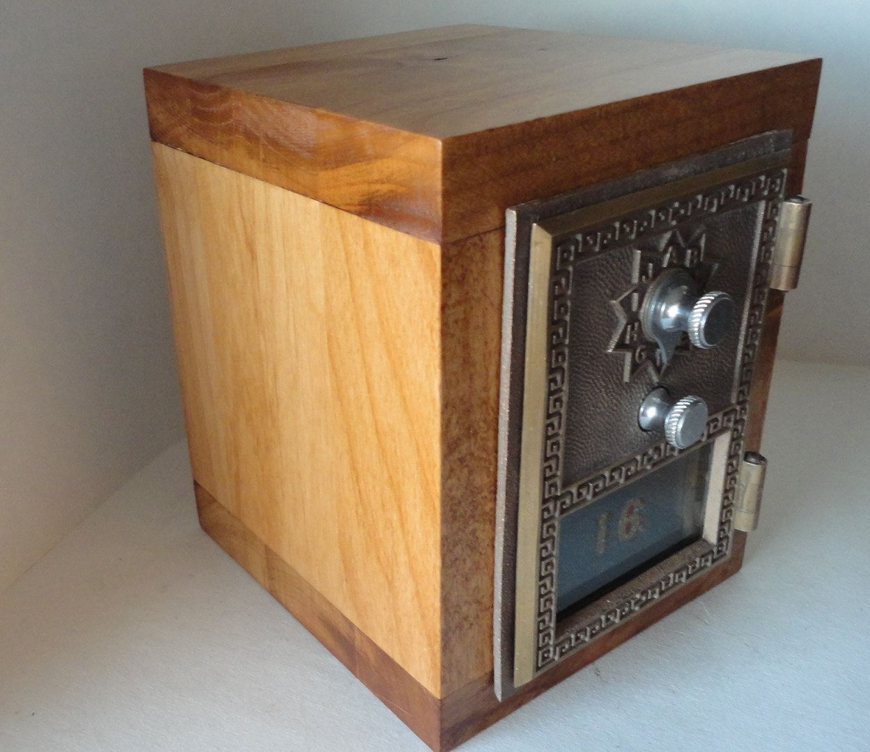 Lot of 10 Cedar Wood Coin slots for post office lock box door bank