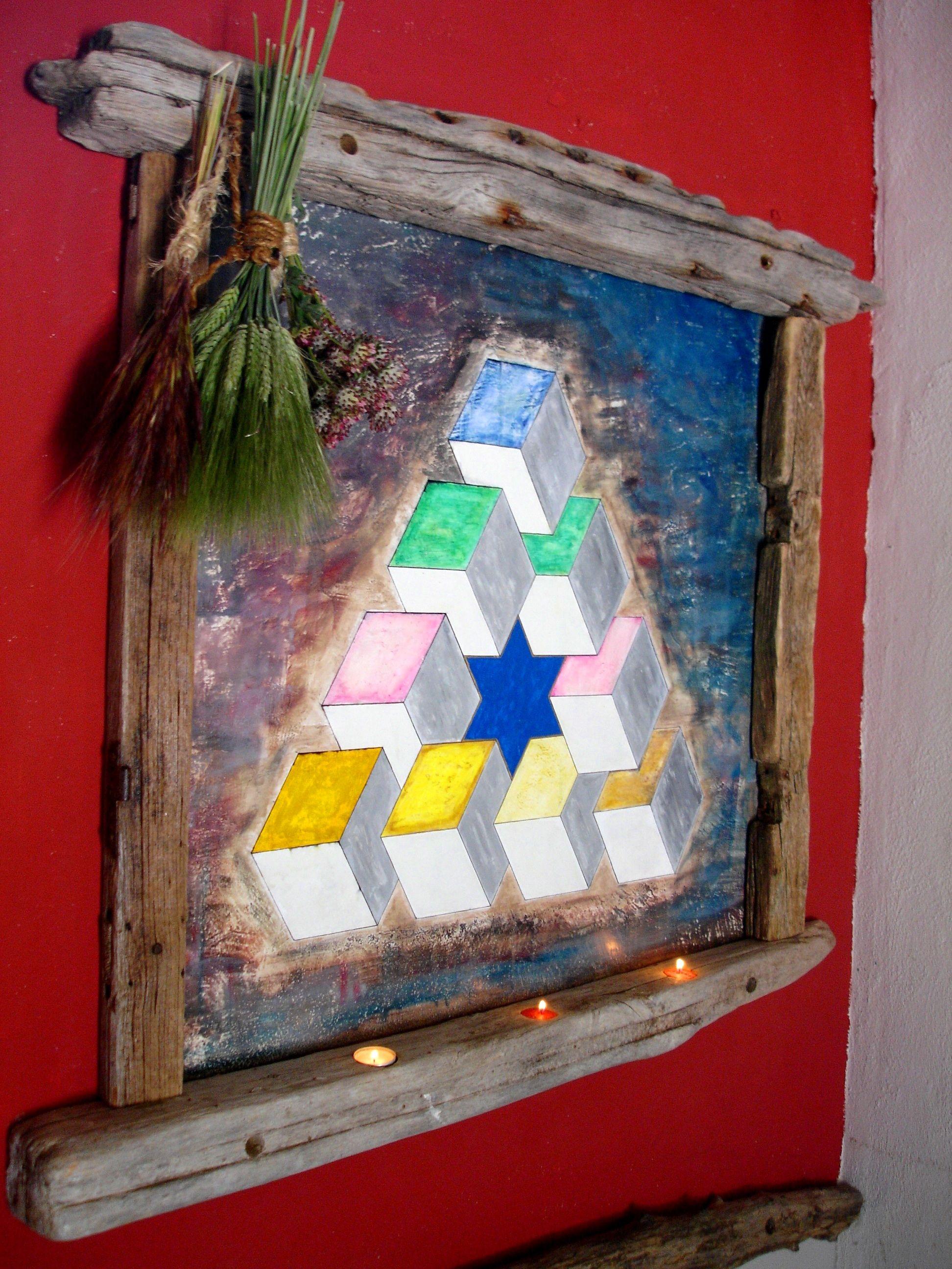 Triangulo de penrose Este triangulo esta pintado sobre pared y le ...